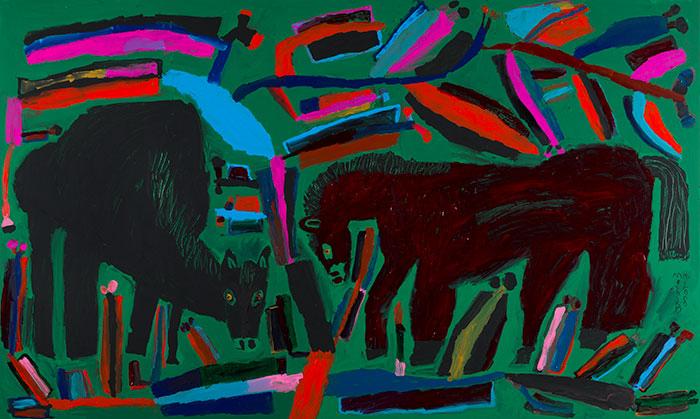釧路の馬・ニシキギ